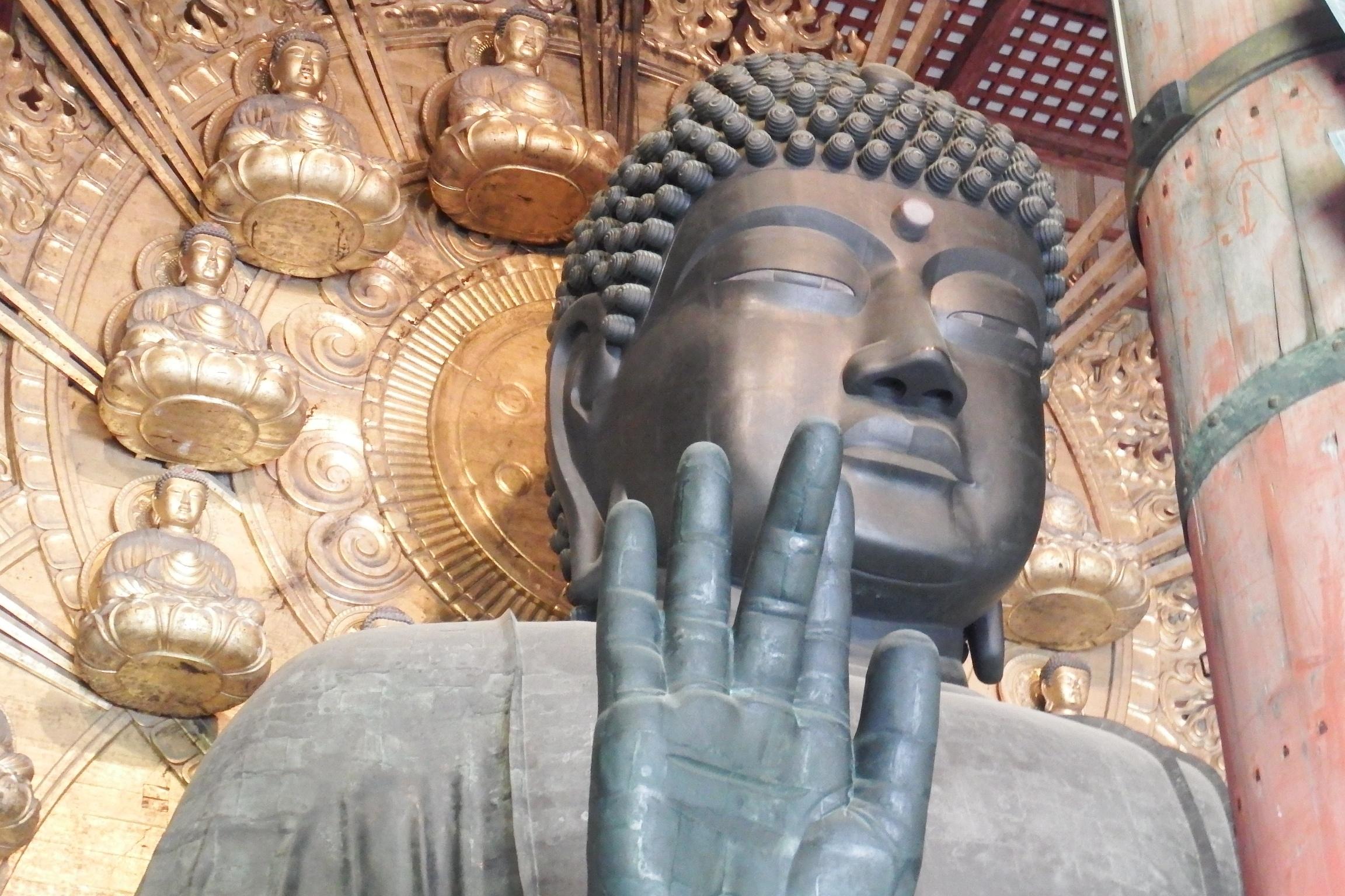 l Grande Buddha, Santuario Todaiji a Nara in Giappone