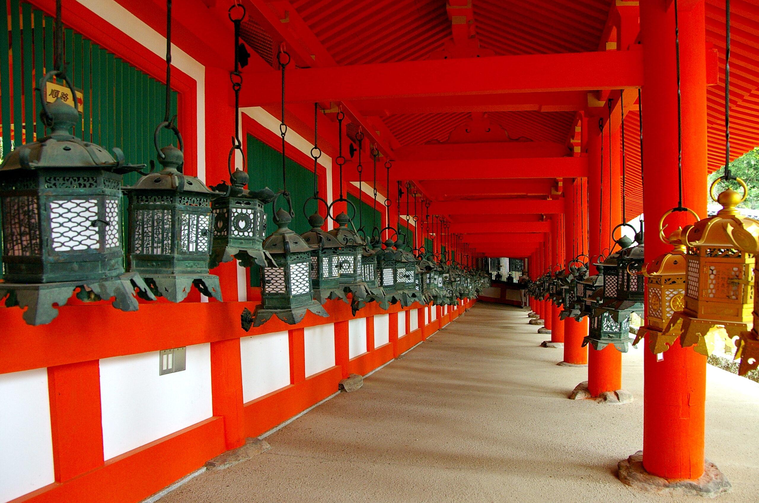 Il Santuario Kasuga a Nara in Giappone