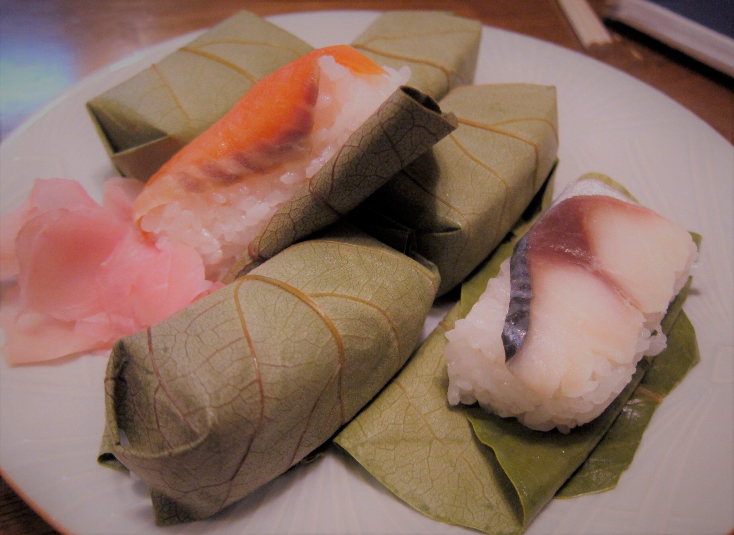 Sushi kakinoha a Nara in Giappone