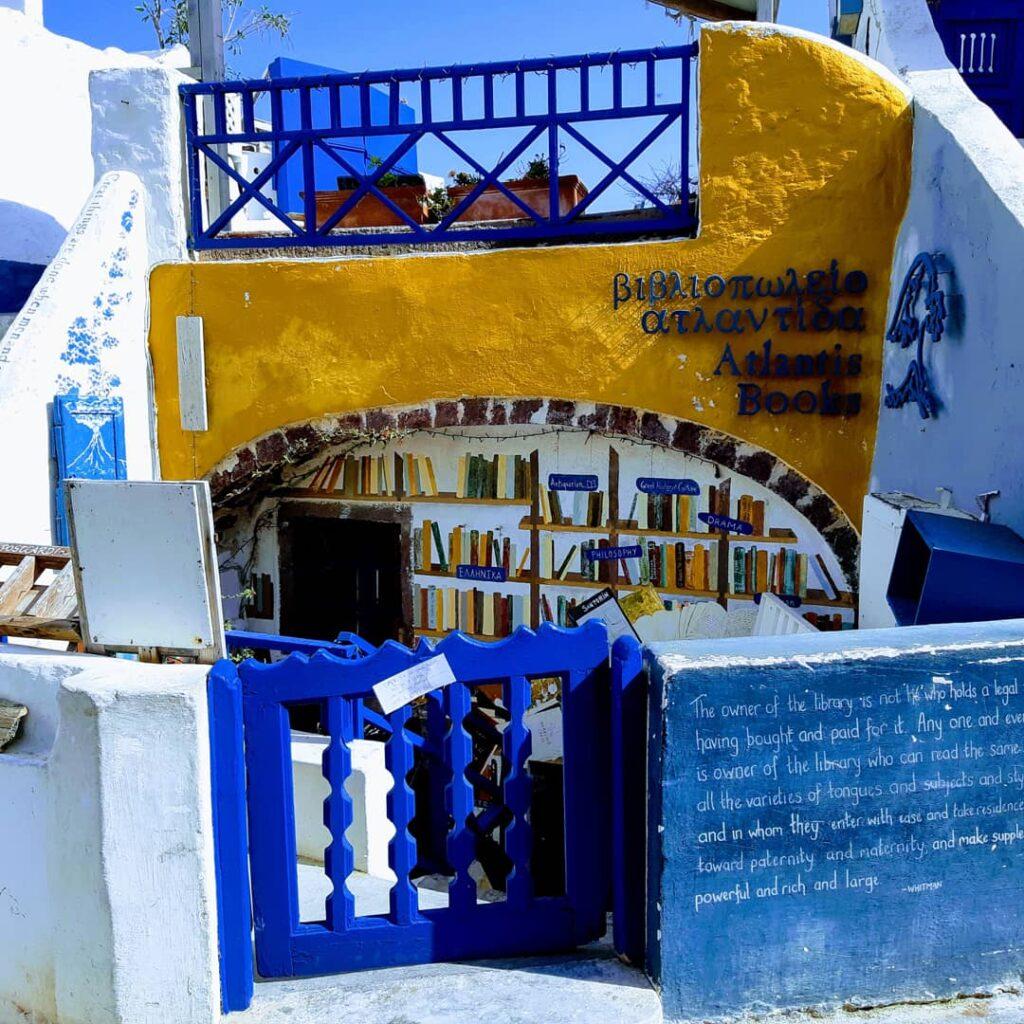 Biblioteca a Oia, Santorini