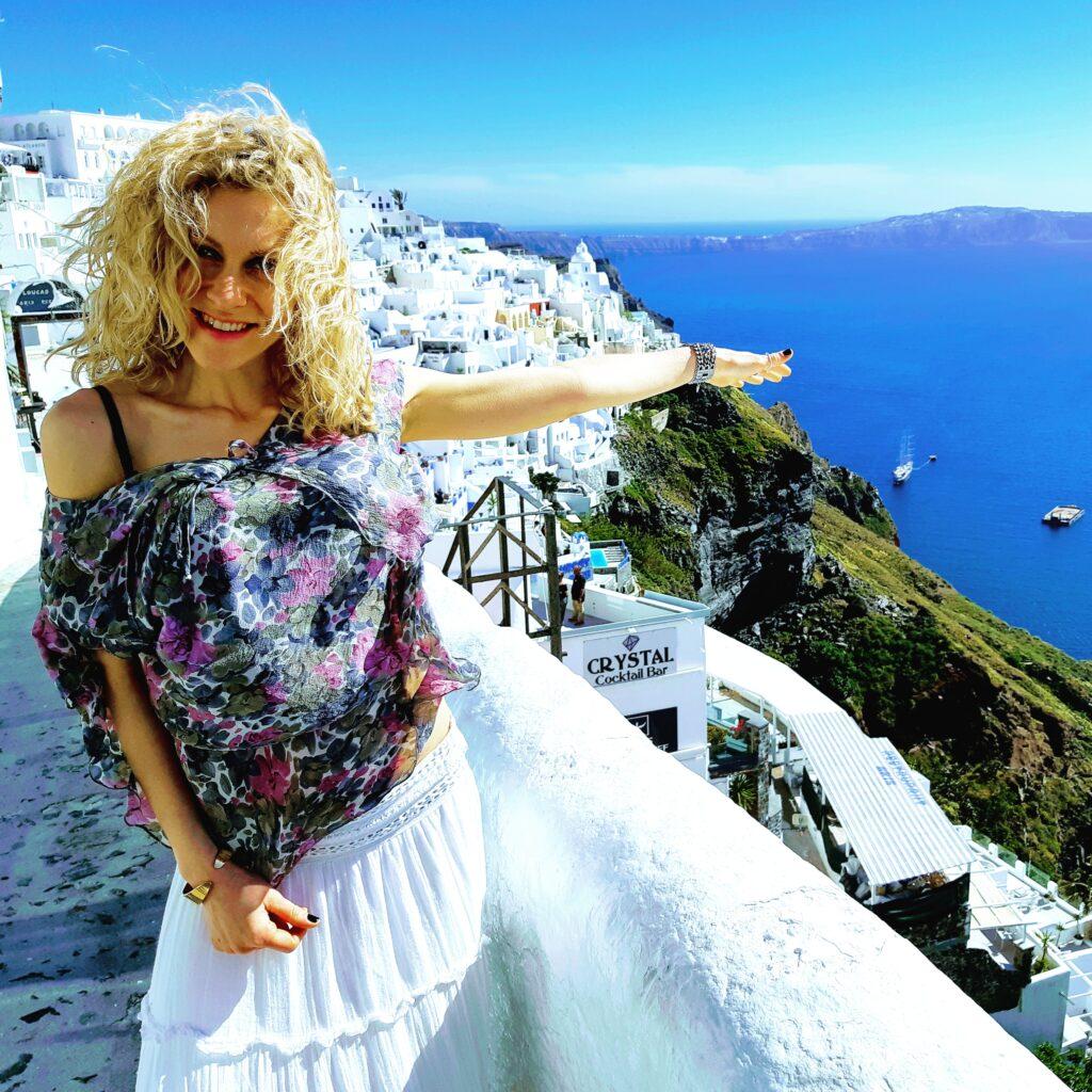 Oia, centro città Santorini