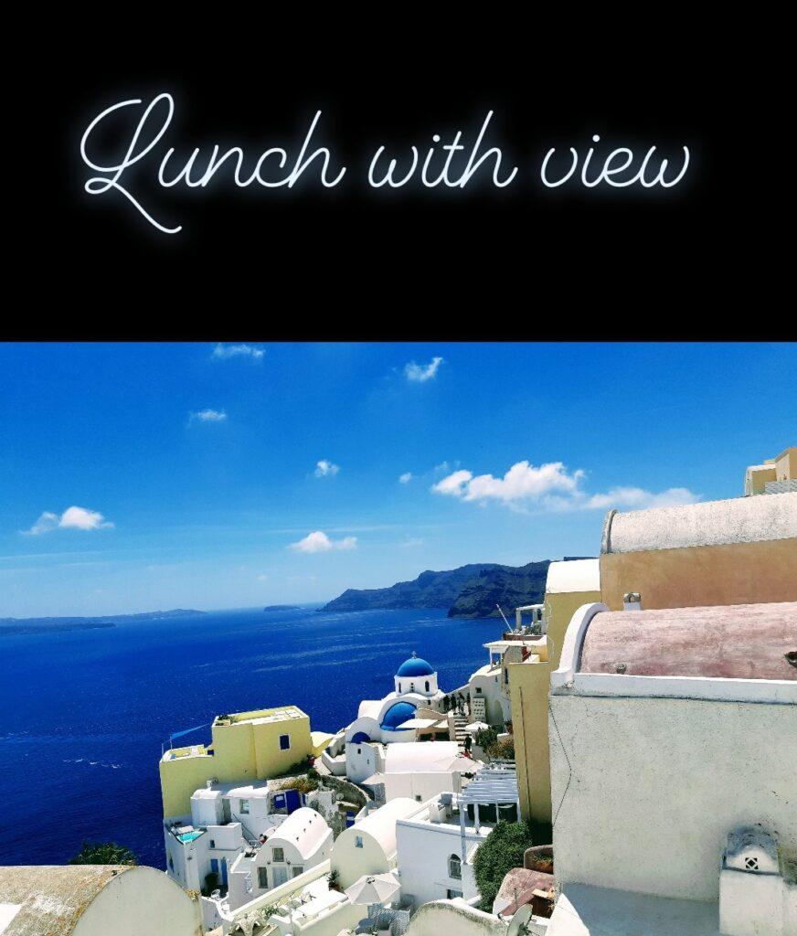 Pranzo a Oia, Santorini
