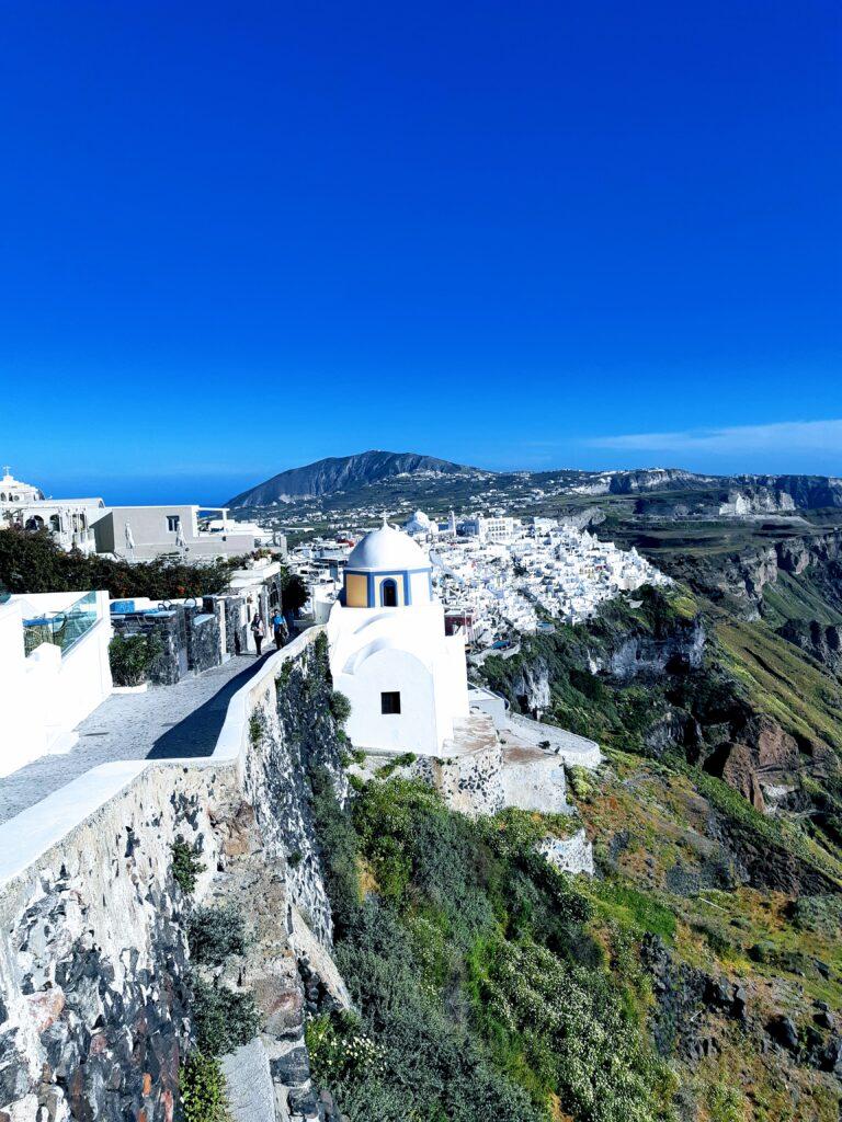 Imerovigli, case bianche tipiche greche, Santorini