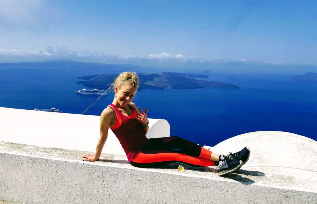 Scogliera percorso da Fira a Oia, Santorini