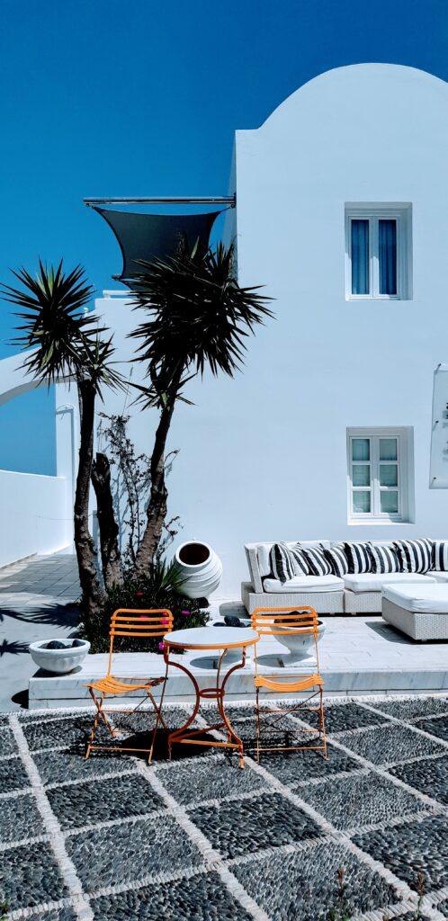 Tipica casetta greca a Fira, Santorini