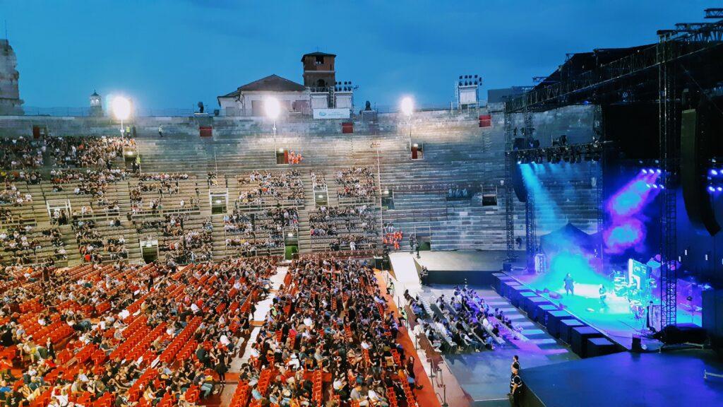 Cosa vedere a Verona: Arena di Verona, Concerto e giochi di luce