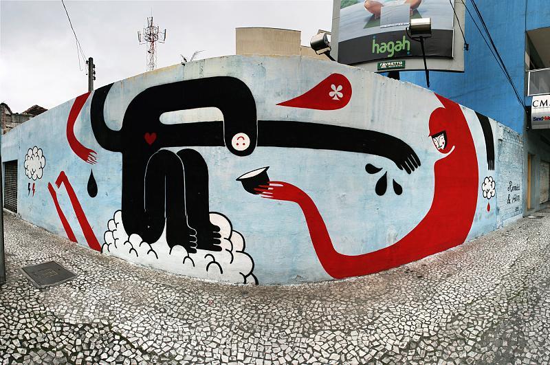 Street Art a Curitiba, Brasile.