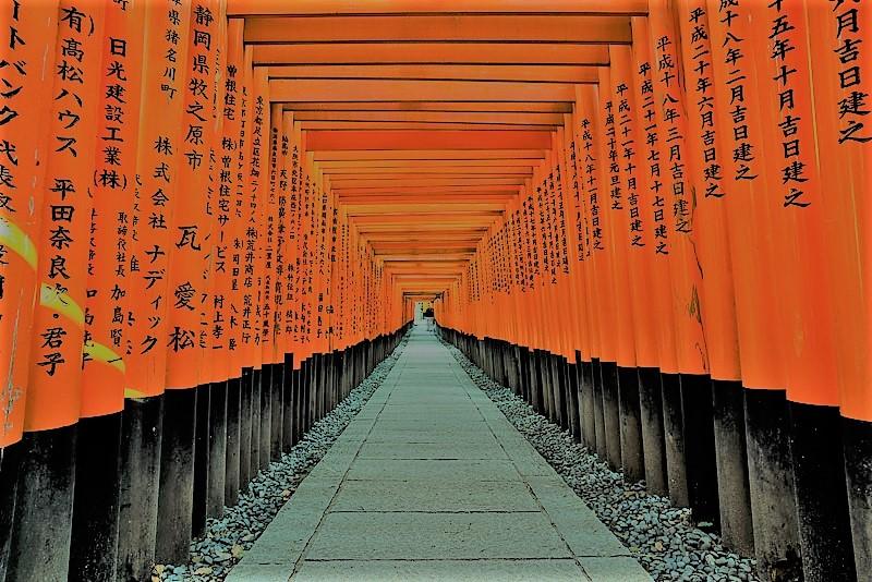 La perfezione dei torii in Giappone